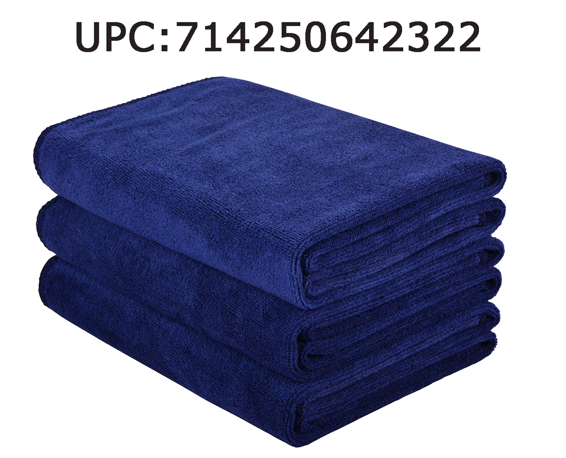 Hope Shine Microfiber Sports Towel Fast Drying Gym Towels 3-Pack 16inch X 32inch (Navy Blue 3-Pack)