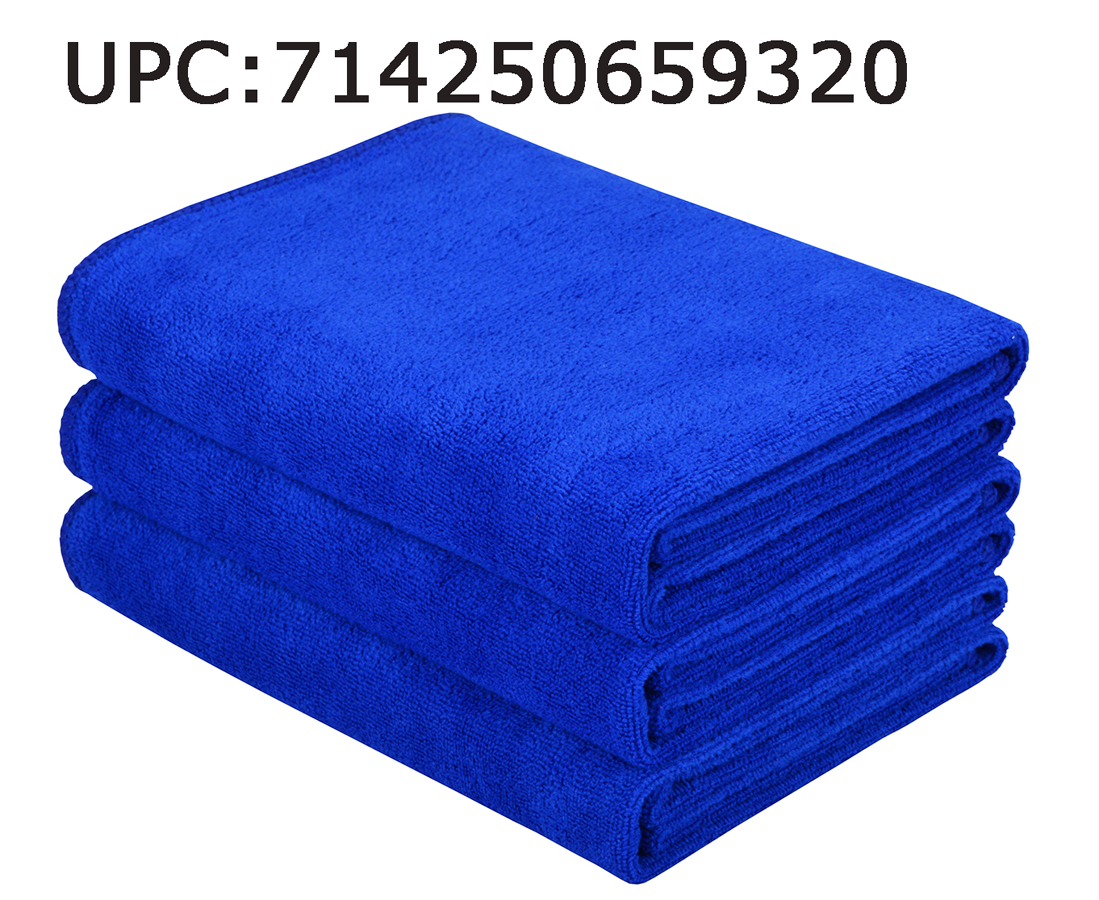 Hope Shine Microfiber Sports Towel Fast Drying Gym Towels 3-Pack 16inch X 32inch (Dark Blue 3-Pack)