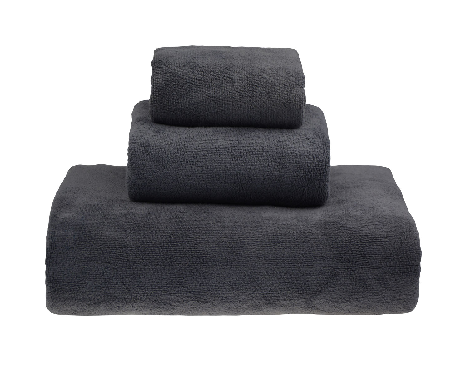 HOPESHINE Microfiber Extra Large Bath Towel Set 3 Piece Bath Towel (Grey)